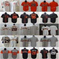 2021 City Connect 28 Buster Posey Baseball Jerseys 35 Brandon Crawford Stitched Flexbase Cool Base Team White Black Grey Orange