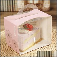 Gift Wrap Event Festive Party Supplies Home & Garden 12X8X10Cm Pvc Cake Box Portable Transparent Window Display Pastry Biscuit Cupcake Boxes