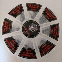 DHL Demon Killer 8 in 1 Isıtma Telleri Alien Clapton Premade Wrap Preebuilt Bobinler Direnç ECIG RDA RBA RTA RDTA Tankı Atomizer