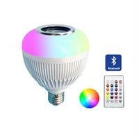 Bulbos Smart LED Lâmpada E27 Sem Fio Bluetooth Speaker RGB 12W Música Jogando Lâmpada Iluminação Remota