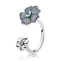 Cluster Rings Authentic 925 Sterling Silver Glorius Blooms Fashion Ring For Women Bead Charm Gift DIY Jewelry