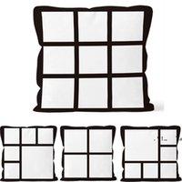 newPillow case digital printing Pillowcases Sudoku black and white squares Pillowcase DIY Cushion Throw Sofa saddle cover EWB6785