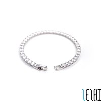 Charm Chain Classic Fashion Love Wedding Bracelets Tennis Snap Iced Out Link Chains Silver Bracelet For Woman Personalized Bridal Jewelry Wholesale 11g 2 Colors