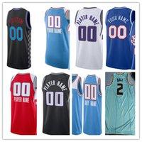 Hombre personalizado impreso Prensa caliente Camisetas de baloncesto Sacramento DeAaron 5 Fox Buddy 24 Hield Tyrese 0 Haliburton Marvin 35 Bagley III Harrison Barnes Richaun Holmes