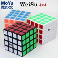 Magic Cube Puzzle Moyu Weisu 4x4x4 4x4 pegatinas Cubo de velocidad profesional