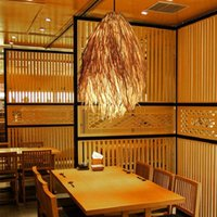 Southeast Asian Style Rattan Art Pendant Lights Rural Decorative Dining Room Bar Cafe Hanging Lamp Retro Led Suspension Fixture Lamps
