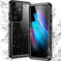 حالات الهاتف للماء واضح الغطاء الخلفي كامل الجسم الثقيلة للصدمات IP68 لفون 12 برو ماكس 12PRO XR XS 8 7 Samsung Galaxy S21 Ultra S20 Plus S10 Note 20 10