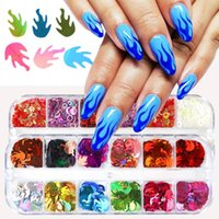 Nail Art Kits Glitter Holographic Sequins Slices Sticker Sparkly Diy Manicure Kit Building For Nails Extensions Decor