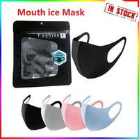 Mouth Ice Washable Face Mask Individual Black Gift Package Anti Dust PM2.5 Respirator Dustproof Anti-bacterial Reusable Silk Bags In Stock Fast Delivery