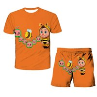 28 Colors Kids Chidlren Cocomelon Shorts Set 4-14Y Cartoon Tracksuit Sportswear Short Sleeve T shirt Tops Two Piece Outfit Casual Sports Sweat suit G77N8OD