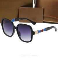 클래식 브랜드 0659 디자이너 사각형 선글라스 남자 여성 빈티지 그늘 편광 된 남성 태양 안경 패션 유리 금속 판자 프레임 선글라스 아이웨어 6666