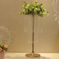 Parti Dekorasyon 10 adet Akrilik Kristal Düğün Çiçek Topu Tutucu 60 cm Masa Centerpiece Vazo Standı Candlestick Sn