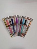 Large crystal pen business office advertising gift pen creative metal ball point pen
