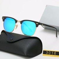 2021 نظارات شمسية عالية الجودة 3016 ريترو أزياء الرجال والنساء العالمي نصف الإطار عدسات الزجاج