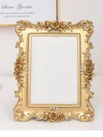 Frames Gold Rose Edge Po Frame Earrings Fixing Board Display Rack Jewelry Storage Home Decoration