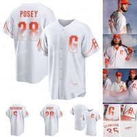 Giants Buster Posey 2021 City Connect Jerseys 샌프란시스코 Mike Yastrzemski Belt Crawford Jeff Samardzija Evan Longoria Hunter Pence Darin Ruf Bonds Dickerson