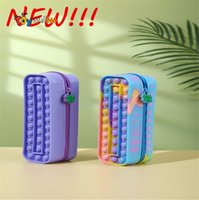 Novelty Games Kids New Fidget Toys Pencil Case Push Bubble Decompression Sensory Stress Relief Early Education Tools