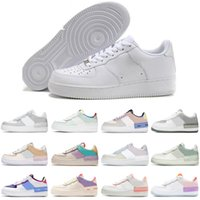 Nike air force 1 af1 men running shoes dunk af1 Classic Triple White Shadow Photon Dust Spruce Aura Pale Ivory Barely Rose mens trainers sport sneakers