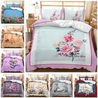 Bedding Sets 3D Rose Flower Idyllic Style Pattern Printed Set Beautiful Girl Bedroom Bed Cover Pillowcase Home Textile Decoration