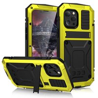 Military-grade Heavy Duty Protection Phone Cases for iphone 13 12 pro max 11 XS shock Resistant Waterproof Dusty-proof Full Cover with Stand