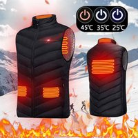 Outdoor T-Shirts Electric Heated Jacket USB Heating Vest Washable Warm Down For Men Women Winter Skiing Cycling S-4XL