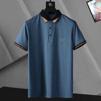 Mens Designer Polos Marca Pequeño Caballo Cocodrilo Bordado Ropa Hombres Tela Letra Polo Camiseta Cuello Casual Tee Shirts Tops2364