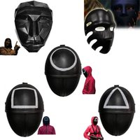 Dropship TV Squid Game Masked Man Film Masks Round Squire Triangle Party Mask Accessories Delicate Halloween Masquerade Costume Props X1005A