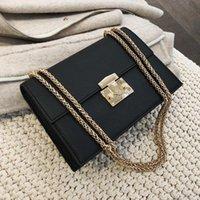 Bayanlar Zarif Zincir Küçük Çanta Lüks Luxurys Kare Kadınlar Kadın Çanta Deri Messenger Çanta ÇantalarShoulder Onrds