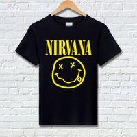 T-shirt Nirvana Metal Rock Rock Cotton Manica Corta Smiley Faccia T-Shirt T-Shirt Donne Dimensioni allentate