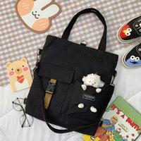 2021 girl handbag book bags canvas bagsss portable simple Large Capacity Schoolbag fashion cross-body bagss shopping bag P016