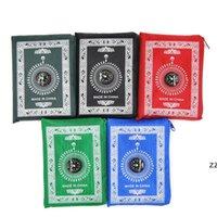 Исламские молитвенные ковры портативный оплетенный коврик на молнии Compass одеяла путешествия карманный коврик прямоугольный водонепроницаемый ковер 5 цветов HWF7430