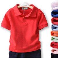 2021 Çocuk Giysileri Erkek Polo Gömlek 8 Renkler Toddler Kızlar T-shirt Yaz Yaka Kısa Kollu Tops Tees Ölçü Çocuk T-Shirt