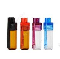 Стеклянная бутылка 36 мм / 51 мм Snuff Snorter Pullet Rocket Snorter нюхает с скрепком цвет Случайные таблетки чехол контейнер коробки DAU326