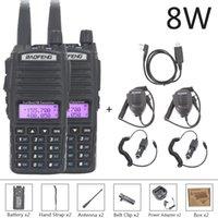 Walkie Talkie Baofeng UV 82 2PCS 10 KM 8W UV-82 Walkie-talkies Two-way Ham Radio Station VHF UHF Dual PPowerful 5R 9R