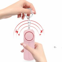 130dB Som Som Som Pessoal Alarme Keychain Brilhante LED luz self_defense alerta de emergência chave chave para as mulheres crianças OWE5870