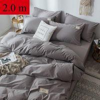Bettbezug Hohe Präzision plus Samt Sets Massivfarbe Dicke Bettscheibe Seitenseide Samt Decke Luxuriöse Dekoration Bett 4pcs / set