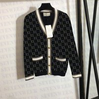 Maglieria di lana di lana di strass di lusso maglioni Cardigan Designer Letter Womens T Shirt Tops per l'autunno
