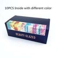 مستحضرات التجميل هدية مربع 10 في 1 مجموعة 9 اللون البليت ماكياج عينيه لوحة لامع ماتي ظلال العيون