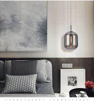 Glass Led Chandelier Lamp Modern Minimalist Winter Melon Nordic Creative Personality Single Head Bedroom Bedside Bar Dining Pendant Light R298