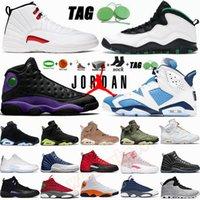del tamaño grande de 13 zapatillas de deporte 12s Alas Juego de la gripe  12 para hombre de los zapatos de baloncesto 10s AJ 10 con la caja Calcetines Llavero