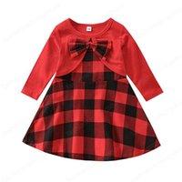 ملابس الاطفال الفتيات عيد شعرية اللباس الأطفال عيد الميلاد منقوشة فساتين الأميرة ربيع الخريف أزياء ملابس الطفل