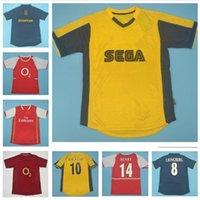 Tüm 2000-2009 Retro Formalar Vintage Futbol Forması Klasik Futbol Gömlek V.Persie Pires Bergkamp Henry Reyes Vieira Ljungberg Fabregas Kırmızı