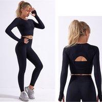 Women Yoga wear Tech Suit Sport fit track pants Legging Tracksuits long sleeve shirts Sportwear Fitness Gym outfits Designer Clothes for grils active workout sets