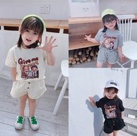 Clothing Sets Girl Suit Outfits Baby Boys Clothes Children Summer Cotton Short Sleeve T-shirts Shorts Tracksuit Casual 2Pcs B5507