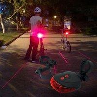 Luzes de bicicleta Traseira 5 LED à prova d'água à prova de bicicleta luz lâmpada piscando Ligh Sport Amp; Laser ao ar livre