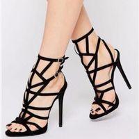 Sandals 2022 Summer Women Designer Shoes High Heels Roman Hollow Stiletto Peep Toe Lady Sexy Nightclub Pumps