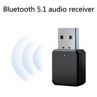 Bluetooth 5.0 Kit auto Musica wireless 3.5mm AUX USB Power Audio Adovente Adattatore Auto Bluetooth Stereo per autoradio MP3 PC
