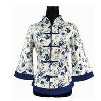 Women's Blouses & Shirts Spring Summer Chinese Tradition Cotton Linen Blouse Top Traditional Shirt Flower Size S M L XL XXL XXXL 4XL 5XL