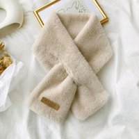 Scarves Women Winter Thicken Plush Faux Fur Scarf Leopard Print Scar Shawl Neck Warmer Shrugs Knitted Neckerchief Long Wrap