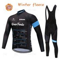 겨울 Strava 사이클링 저지 세트 열 양털 2021 남자 야외 승마 MTB Ropa Ciclismo Bib 바지 따뜻한 의류 경주 세트